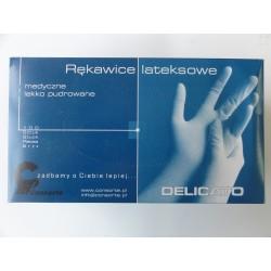 "Rękawice lateksowe DELICATO a'100 ""S"""