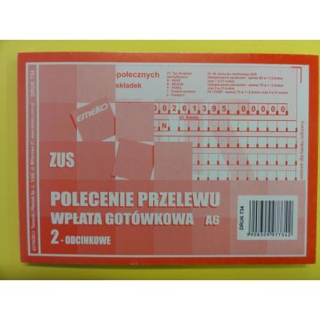 Polecenie Przelewu Zus A6 11 E 734 Zic