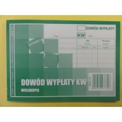 Dowód wypłaty KW A'6 wielokopia - E 774