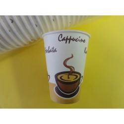 Kubek 180 ml papierowy a'70 z nadrukiem COFFEE