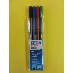 Cienkopis D-FINE 0,4 mm /MIX 4-kolory