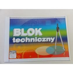 Blok techniczny A4 biały