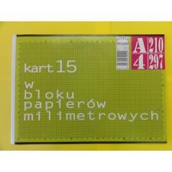 Blok papier milimetrowy A'4